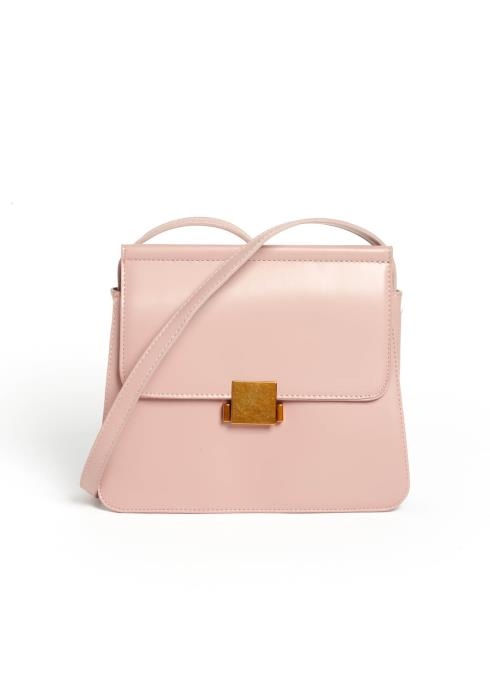 Simply Chic Matte Pink Crossbody Bag