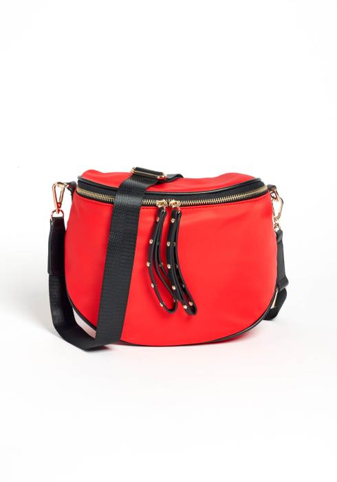 Rock Star Red Mini Duffle Crossbody Bag