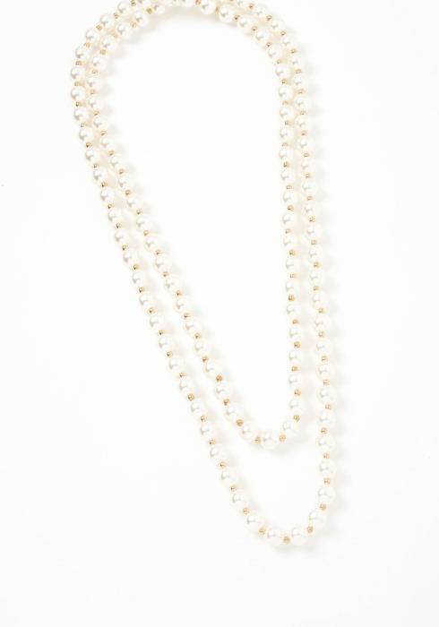 Belgium Pearl Beaded Longline Necklace