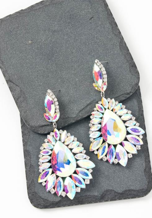 Aurora Iridescent Jewel Drop Earrings