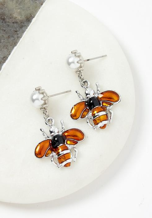 Atmore Honey Bee Earrings