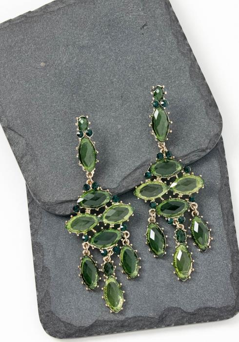 Venice Green Jewel Drop Earrings
