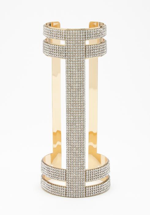 Dazzling Cubic Cuff Bracelet