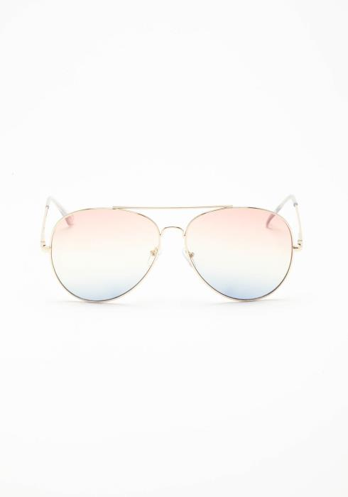Into The Future Gradient Aviator Sunglasses