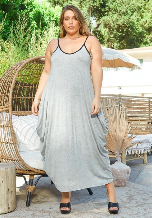 Asoph Plus Size Everyday Harem Maxi Dress