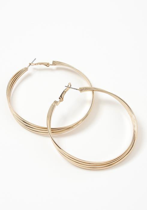 Romana Golden Tier Hoop Earrings