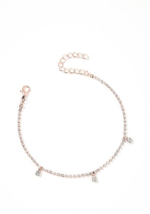 Precious Rose Gold Diamante Anklet