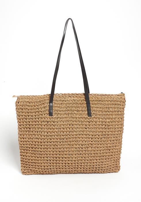 Amelia Natural Straw Tote Bag