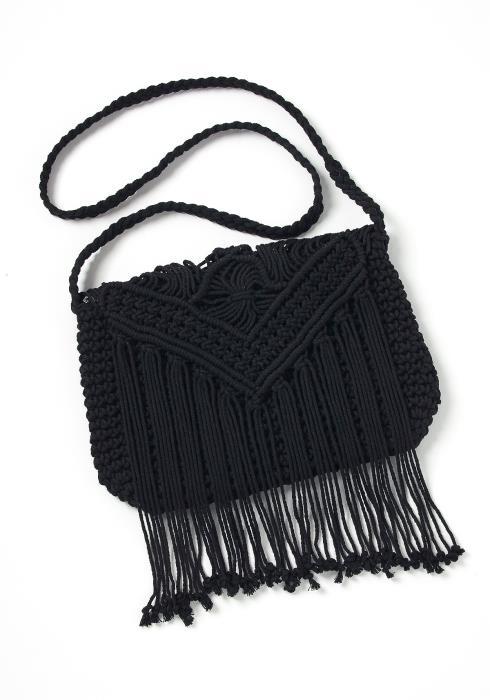 Madison Crochet Fringe Crossbody Bag