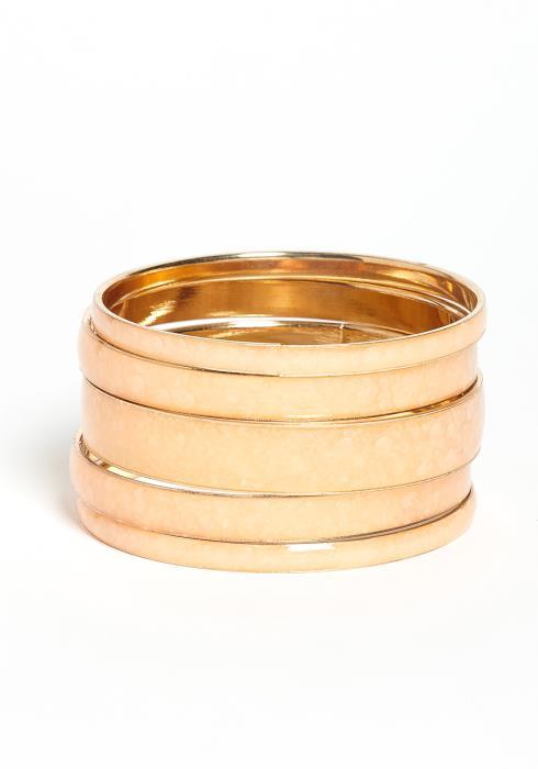 Scarlet Soft Stone Golden Bracelets