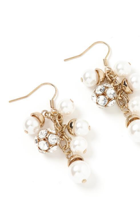 Vienna Golden Pearl Drop Earrings