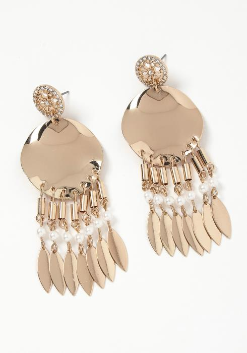 Ivey Plated Feather Drop Earring