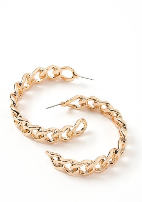 Lofall Vintage Chain Semi Hoop Earrings