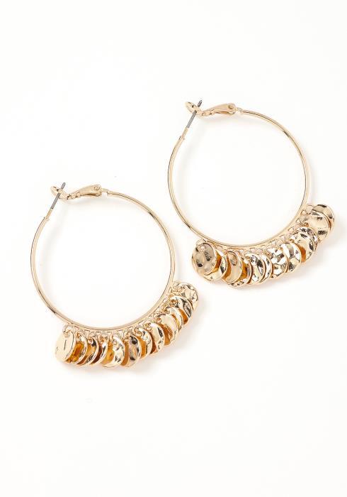 Desiree Mini Coin Link Hoop Earrings