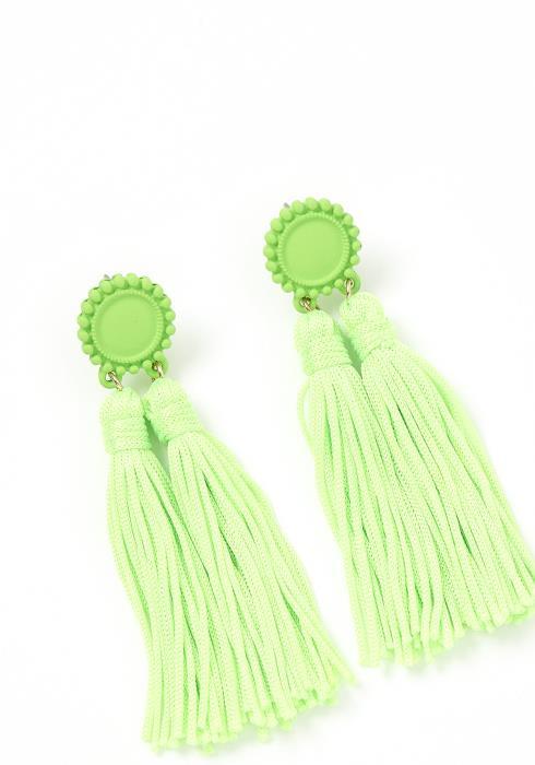 Selz Double Tassel Drop Earrings
