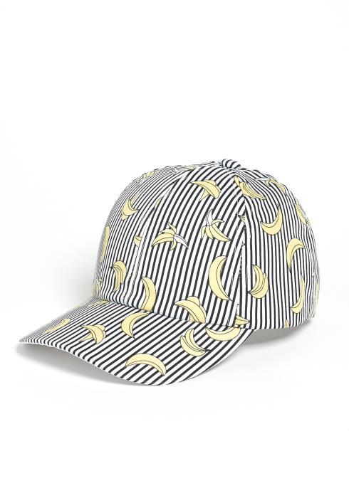 Banana Stripe Mix Baseball Cap