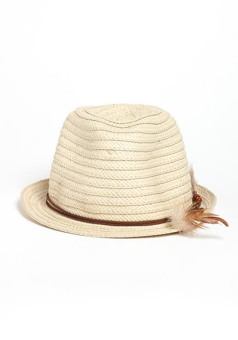 Bartow Feather Straw Hat