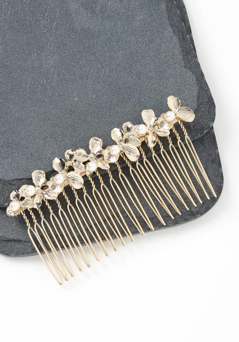 Julia Golden Floral Hair Pin