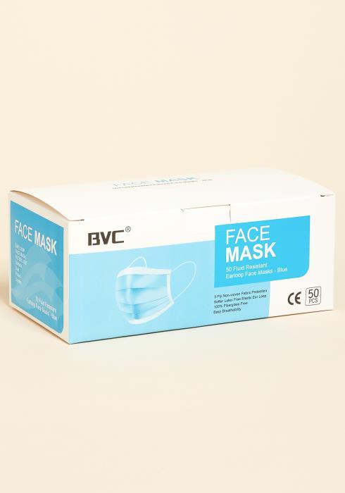 Fluid Resistant Face Mask 50 Pack