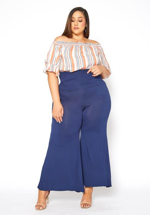 Asoph Plus Size Ultra High Waisted Flare Leggings