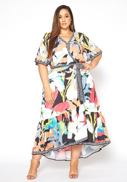 Asoph Plus Size Magical Paradise Fit & Flare Maxi Dress