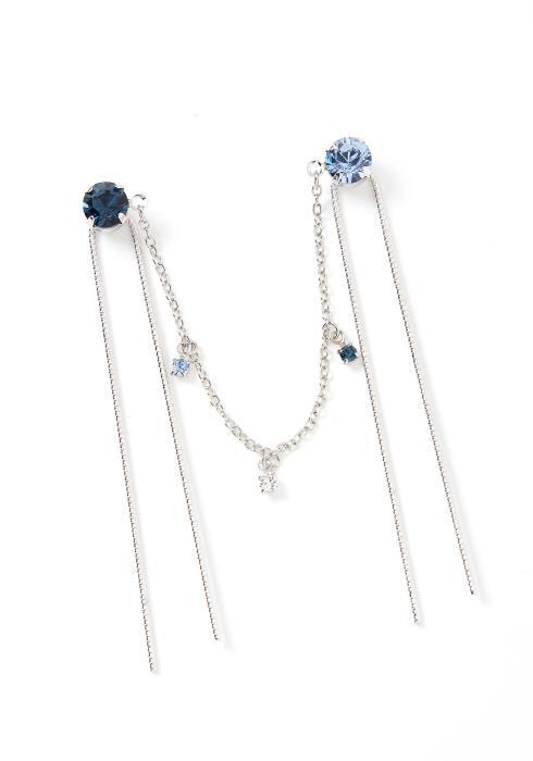 Grace Silver Crystal Drape U Shape Linked Hair Pins