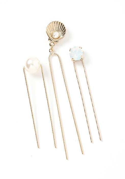 Sirena Golden Seashell U Shape Hair Pin Set