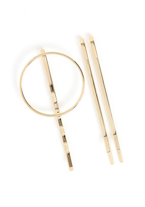 Gianna Golden Circle Hair Pin Set