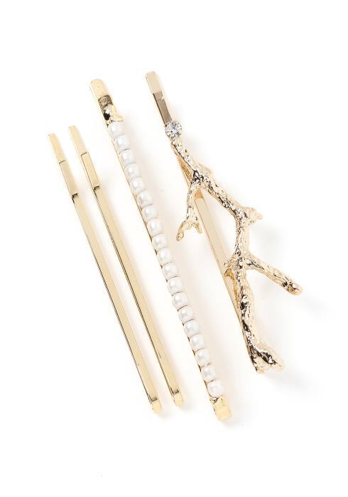 Suri Golden Tree Branch Hair Pin Set