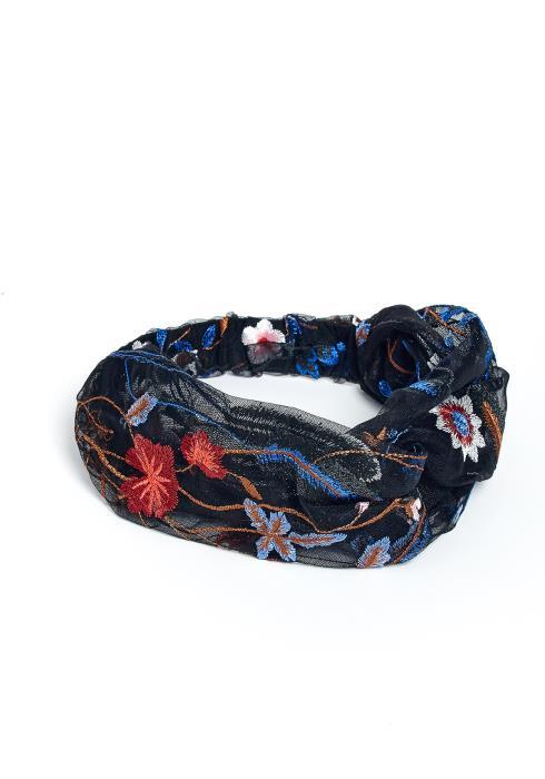 Paloma Embroidered Floral Design Headband