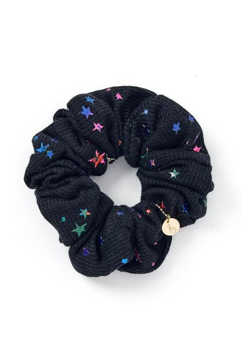 Denise Black Star Struck Hair Tie Scrunchie