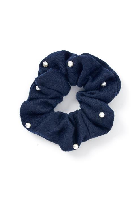 Melanie Pearl Accented Hair Tie Scrunchie