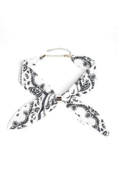 Naya Paisley Print Cuffed Scarf Necklace