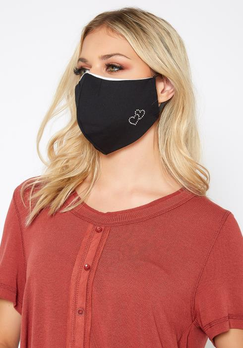 Sweetheart Rhinestones Filter Insert Face Mask