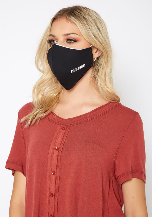Feeling Blessed Statement Filter Insert Face Mask