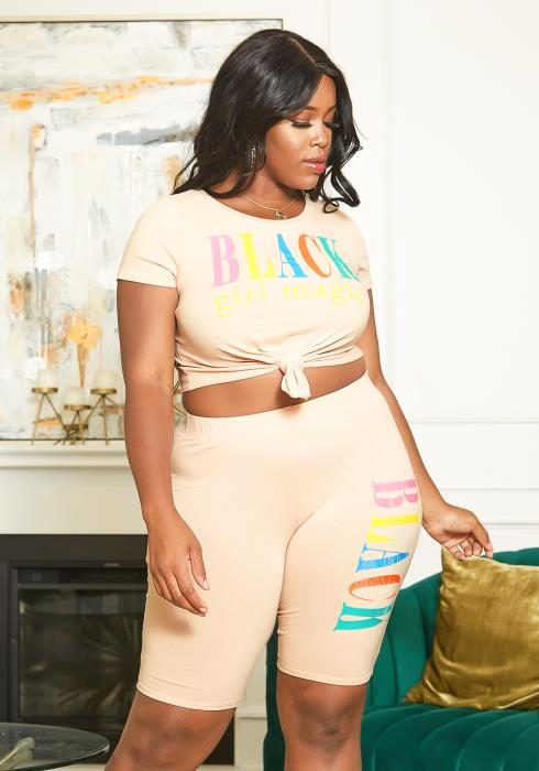 Asoph Plus Size Two Piece Magic Statement Set