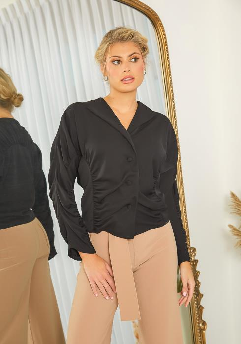NDS Ruched Collar Top