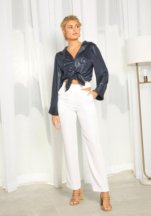 NDS Cut Out Waist Wide Leg Pants