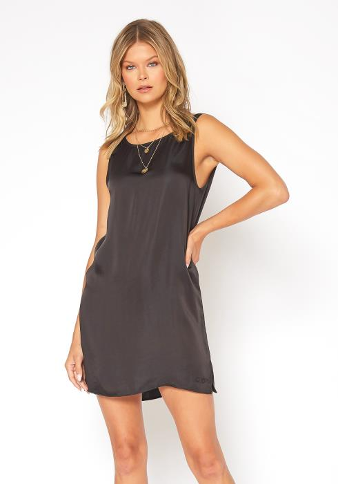 NDS Wide Strap Satin Slip Dress