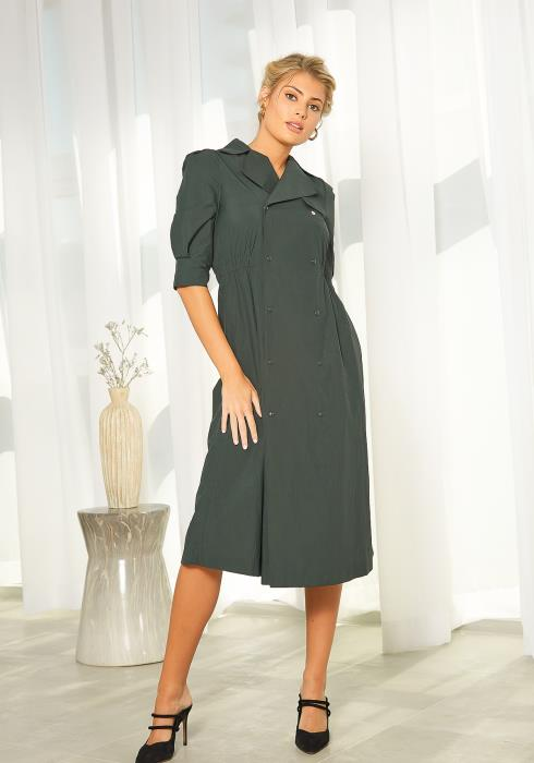 NDS Double Breast Button Dress