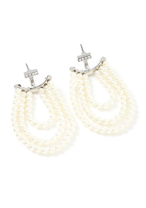 Rosalie Pearl Drop Stud Earrings