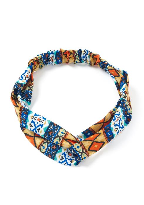 Multi Ethnic Print Scrunchie Headband