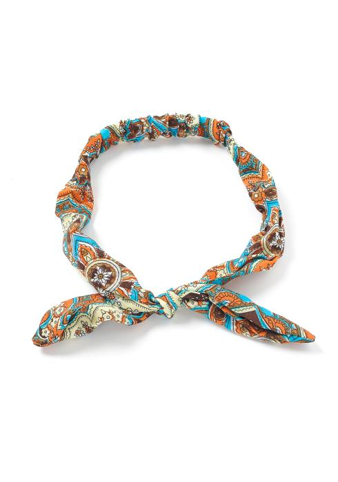 Multi Print Rabbit Ear Scrunchie Headband