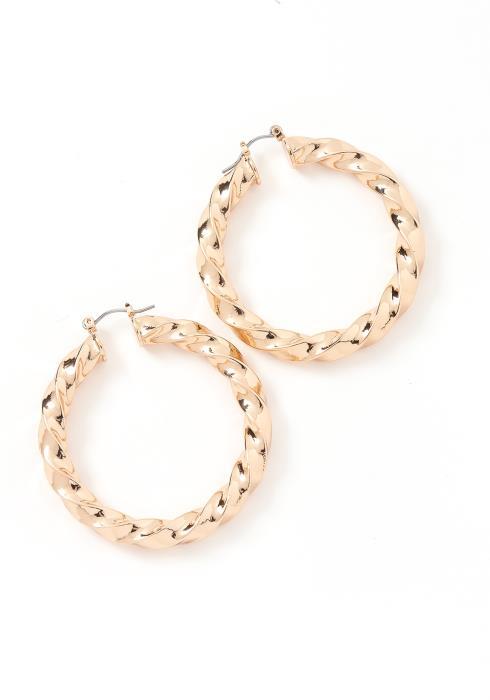 Erika Golden Twist Mini Hoop Earrings