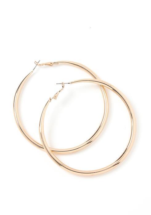 Adalyn Basic Medium Hoop Earrings