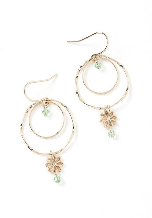 Daisy Charm Mini Hoop Earrings