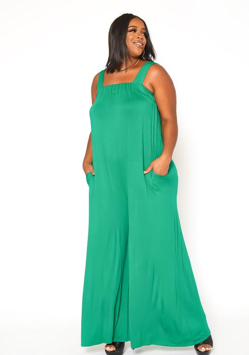 Asoph Plus Size Sleeveless Wide Leg Jumpsuit