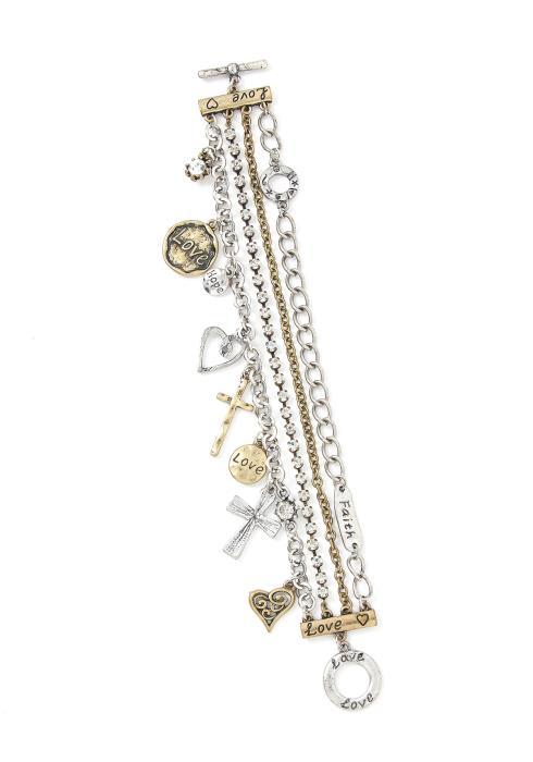 Kylie Layered Charm Bracelet
