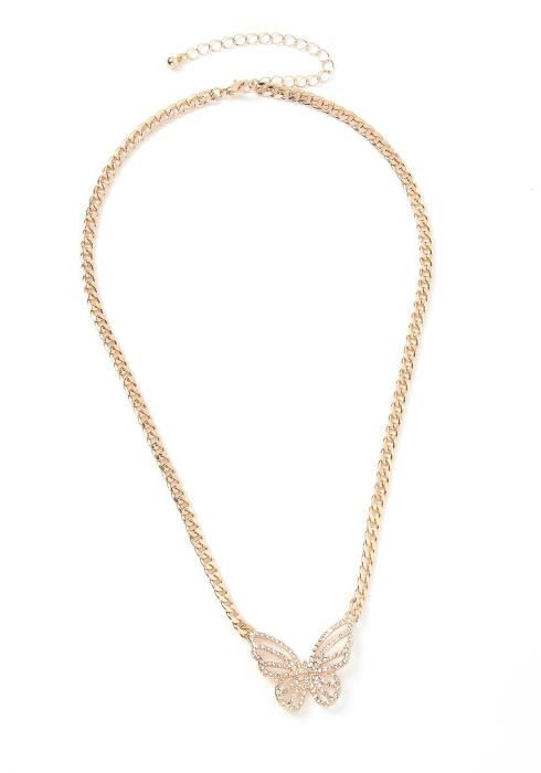 Ursa Crystal Butterfly Necklace