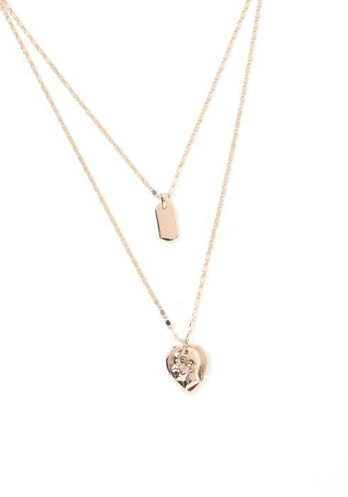 Graford Layered Heart Pendant Necklace